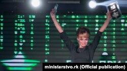 Гендиректор телерадиокомпании «Крым» Екатерина Козырь на вручении премии в Крыму, 2016 год
