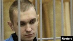 Өлім жазасына кесілген екі адамның бірі Дмитрий Коновалов. Минск, 15 қыркүйек 2011 жыл.