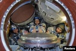 Beynəlxalq Kosmik Stansiyanın içərisi