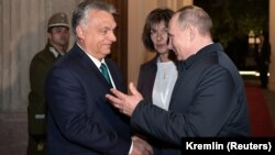Președintele ungar, Viktor Orban, la întânirea recentă de la Budapesta cu președintele rus Vladimir Putin