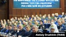 Російський патріарх Кирило на засіданні колегії міністерства оборони Росії, Москва, 11 грудня 2018 року