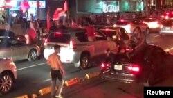 Славје на улиците на Панама Сити по изборувањето пласман на Светското првенство во фудбал