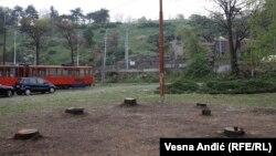 Pripreme za izgradnju gondole počele su sečom drveća na Kalemegdanu i Ušću