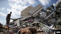 نوار غزه. ۱۵ ژوئیه ۲۰۱۴.