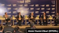منصة المتحدثين في مؤتمر اربيل حول علاقات الاقليم مع تركيا
