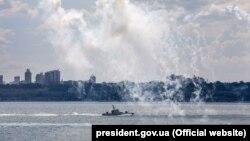 Малий броньований катер в акваторії порту Одеси, 2018 рік