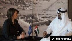 Atifete Jahjaga gjatë takimit me Princin e Kurorës në Abu Dabi