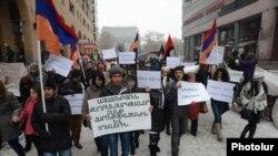 Шант Арутюнуяндын тарапкерлеринин митинги. Ереван, 10-январь, 2014.