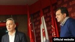 Zlatko Lagumdžija i Milorad Dodik u decembru 2010. godine