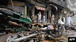 Pamje nga një sulm i mëparshëm me bombë në Pakistan