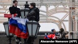 """Акция 'Забастовка избирателей"""" на Пушкинской площади, 28 января, 2018 год"""