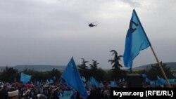 Жалобне зібрання кримських татар у Бахчисараї 18 травня