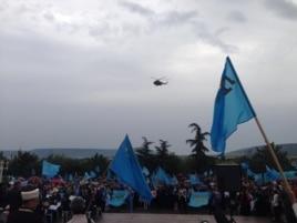 Траурное собрание крымских татар в Бахчисарае 18 мая