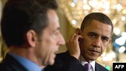 باراک اوباما (راست) و نیکولا سرکوزی