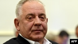 Ivo Sanader attends a hearing during his trial in Zagreb in October 2018.