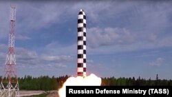 Испытания российской ракеты «Сармат», которая должна заменить «Сатану»