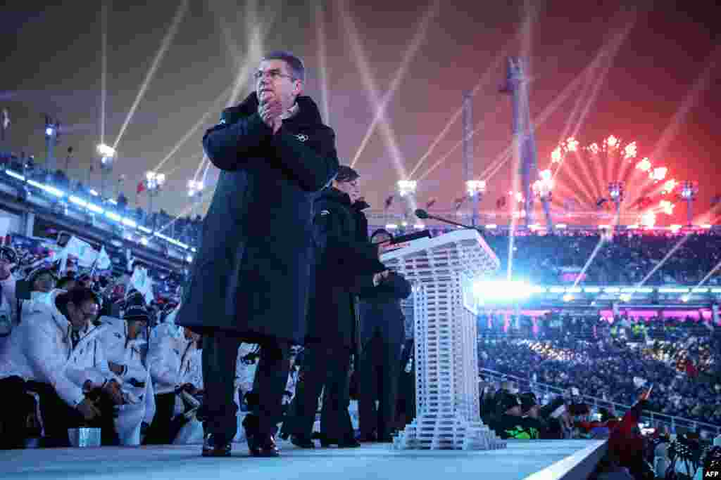"President of the International Olympic Committee, Thomas Bach, said in his opening ceremony speech: ""We are stronger than all the forces that want to divide us."""