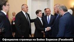 Бойко Борисов с Ана Бърнабич, Реджеп Ердоган, Рамуш Харадинай и Стево Пендаровски