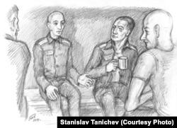 Российская тюрьма. Рисунок Станислава Таничева