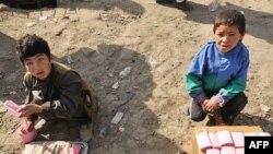 ارشیف، افغانستان کې بېوزله ماشومان پر واټونو د کار کولو پر مهال