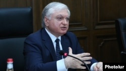 Armenia - Foreign Minister Edward Nalbandian speaks at a parliamentary hearing in Yerevan, 30Jun2017.