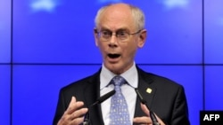 "European Council President Herman Van Rompuy hailed the agreement as a ""breakthrough."""