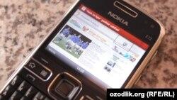 """Uzbekistan - """"Yosh tolqin"""" of the Uzbek service on mobile phone"""