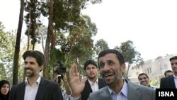 "President Mahmud Ahmadinejad (right) called Iran's recent P5+1 talks ""a positive step forward."""