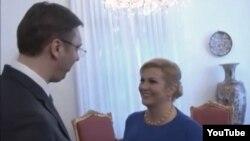 Aleksandar Vučić i Kolinda Grabar Kitarović u Zagrebu 15. februara, ilustrativna fotografija