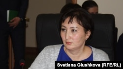 """Правовой медиа-центр"" қоғамдық ұйымының заңгері Гүлмира Біржанова."