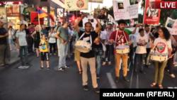 Երթ Երևանում՝ ի աջակցություն «Սասնա ծռերի», 17-ը հուլիսի, 2017թ․