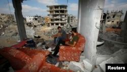 بخشی از نوار غزه پس از حملات تابستان ۲۰۱۴