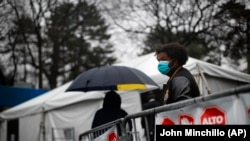 Очередь на экспресс-тестирование на коронавирус, Централ Парк в Нью-Йорке, 29 марта 2020 года