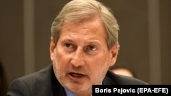 "EU Enlargement Commissioner Johannes Hahn called the delay ""unfortunate."" (file photo)"