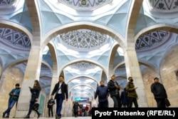 Inside the Tashkent metro