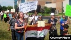 تظاهرة لأبناء الجالية العراقية في ميشغان تندد بالإعتداءات على المسيحيين