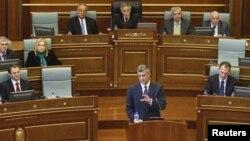 Kryeministri i Kosovës, Hashim Thaçi, në Kuvend (Foto nga arkivi)