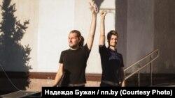 Белорусские диджеи Владислав Соколовский (слева) и Кирилл Галанский.