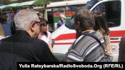 Место одного из взрывов в Днепропетровске