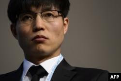 Северокорейский правозащитник Донг Хьюк Шин. Женева, 19 февраля 2013 года.