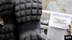 «Свобода прессы в Венгрии подходит к концу» — заголовок в номере газеты «Непсабадшаг» за 3 января 2011 года. Иллюстративное фото.