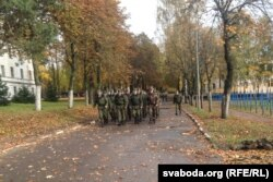 The Pechy military training base northeast of Minsk