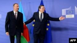 Jose Manuel Barroso və prezident İlham Əliyev