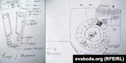 Схема СІЗА КДБ ад Алеся Кіркевіча, архіўная выява