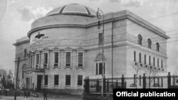 Украінская Цэнтральная Рада на паштоўцы пачатку XX стагодзьдзя (архіў Украінскага інстытута нацыянальнай памяці)