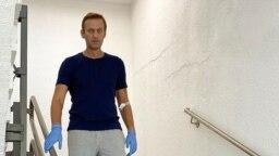 Alexei Navalny në spitali Charite në Berlin, më 19 shtator, 2020.