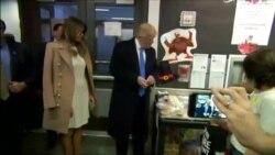 Trump arvadı və qızıyla birlikdə səs verir