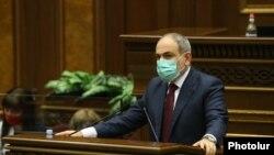 Nikol Paşinyan parlamentdə