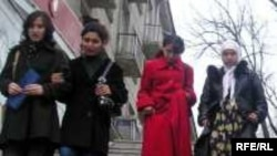 Tajik students in Dushanbe