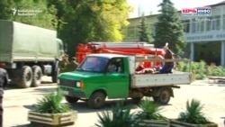Injured Taken To Hospital On Truck After Crimea Blast